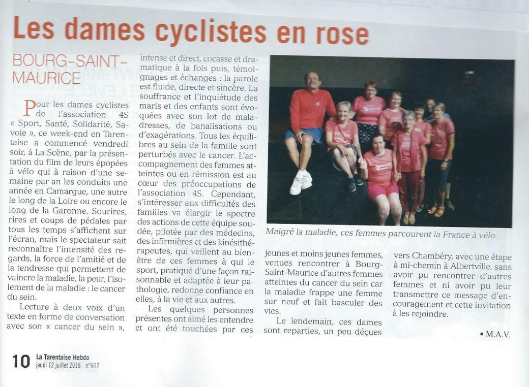 TH Les dames cyclistes en roseBourgSt maurice